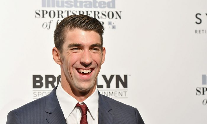 Michael Phelps attends the Sports Illustrated Sportsperson of the Year Ceremony 2016 at Barclays Center of Brooklyn on December 12, 2016 in New York City. (Photo by Slaven Vlasic/Getty Images for Sports Illustrated)