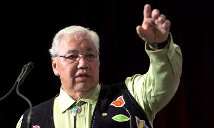 Truth and Reconciliation Commission chair Murray Sinclair speaks during closing events for the Truth and Reconciliation Commission in Ottawa on June 1, 2015. (The Canadian Press/Adrian Wyld)