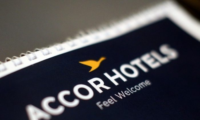 The logos of AccorHotels group is pictured during a news conference at the Pullman Bangkok King Power hotel, in Bangkok, Thailand, June 15, 2017. (Reuters/Athit Perawongmetha)