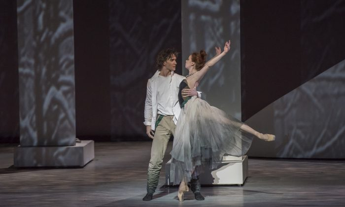 """In the ballet """"The Taming of the Shrew,"""" by choreographer Jean-Christophe Maillot, Katharina (here played by Ekaterina Krysanova) meets her match Petruchio (here played by Vladislav Lantratov) and they fall in love. (Stephanie Berger)"""