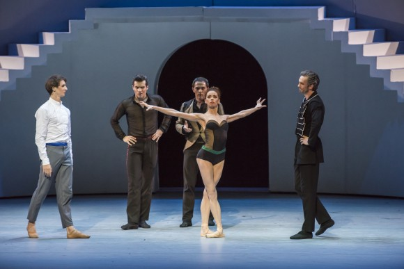 Katharina (here played by Ekaterina Krysanova) rejects her sister's suitors. (Stephanie Berger)