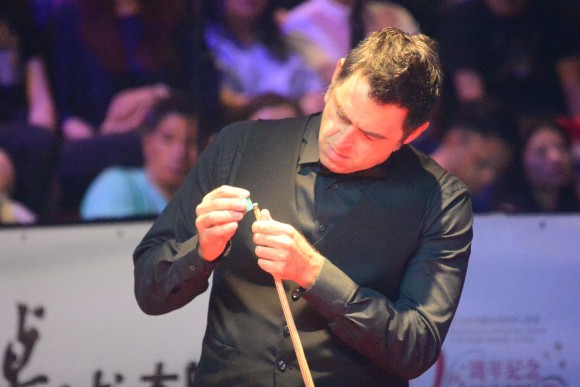 Ronnie O'Sullivan said that he had trouble adapting to his cue during the tournament and had to be more careful in his shot selection. (Eddie So)