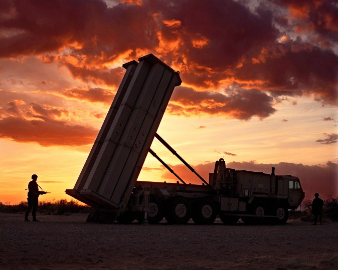 A THAAD missile battery, similar to those deployed in South Korea. (photo by Lockheed Martin)