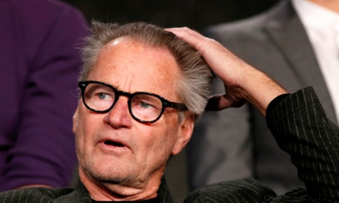 """Actor Sam Shepard talks about Discovery Channel's """"Klondike"""" during the Winter 2014 TCA presentations in Pasadena, Calif., on January 9, 2014. (REUTERS/Lucy Nicholson)"""