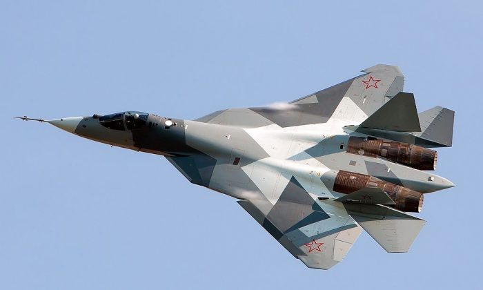 A Sukhoi fighter plane. (By Alex Beltyukov [CC BY-SA 3.0 (http://creativecommons.org/licenses/by-sa/3.0)] via Wikimedia Commons)