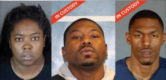 Mia Maree McNeil, 32; Quinton Brown, III, 30; Gerald Lavell Turner, 32  (LOS ANGELES COUNTY SHERIFF'S OFFICE)