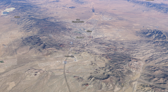 Aerial rendering of Kingman, Arizona. (Google Maps)
