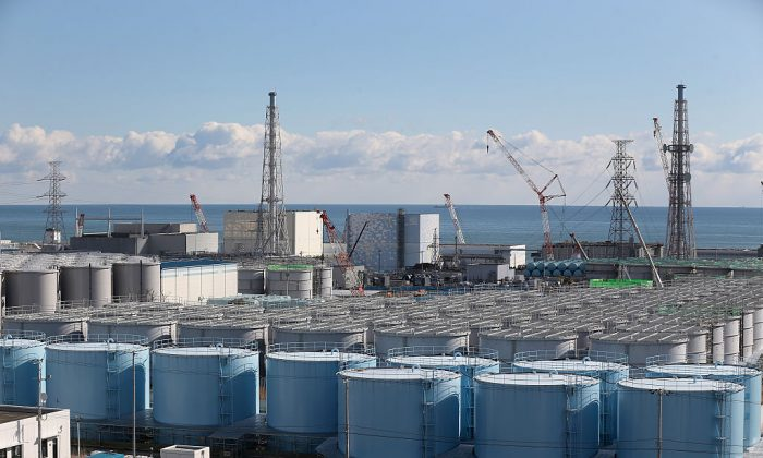 A general view of radiation contaminated water tanks and the damaged reactors at Fukushima Daiichi nuclear power plant In Okuma, Japan, on Feb. 25, 2016. (Christopher Furlong/Getty Images)