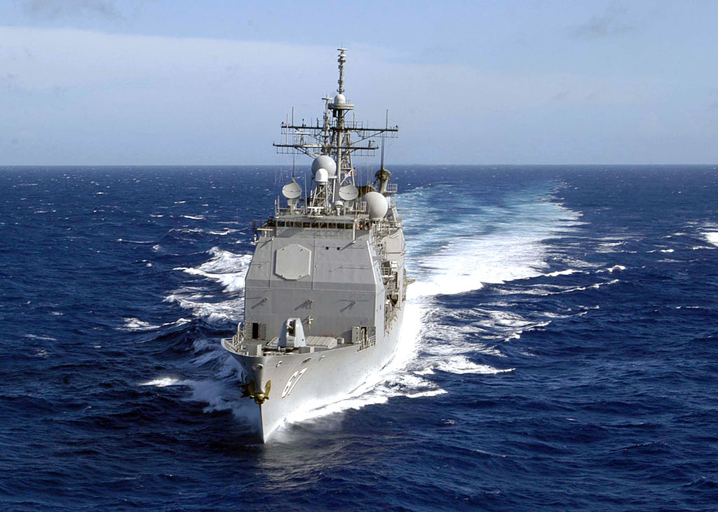 Guided missile cruiser USS Shiloh (CG 67) is underway December 21, 2004 in the waters of Western Pacific Ocean. (Patrick M. Bonafede/U.S. Navy via Getty Images)