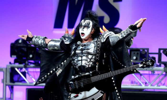 Musician Gene Simmons of KISS performs onstage.  (Photo by Frederick M. Brown/Getty Images for Race To Erase MS)