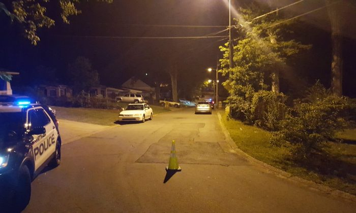 A police photo shows the seen of an early morning shooting where a woman in Marietta, Georgia shot a home intruder on August 3, 2017. (Marietta, Georgia Police Department)