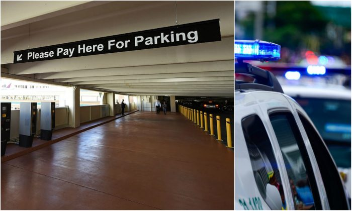 Photo of a parking garage and police cars unrelated to story. (Ethan Miller/Getty Images)