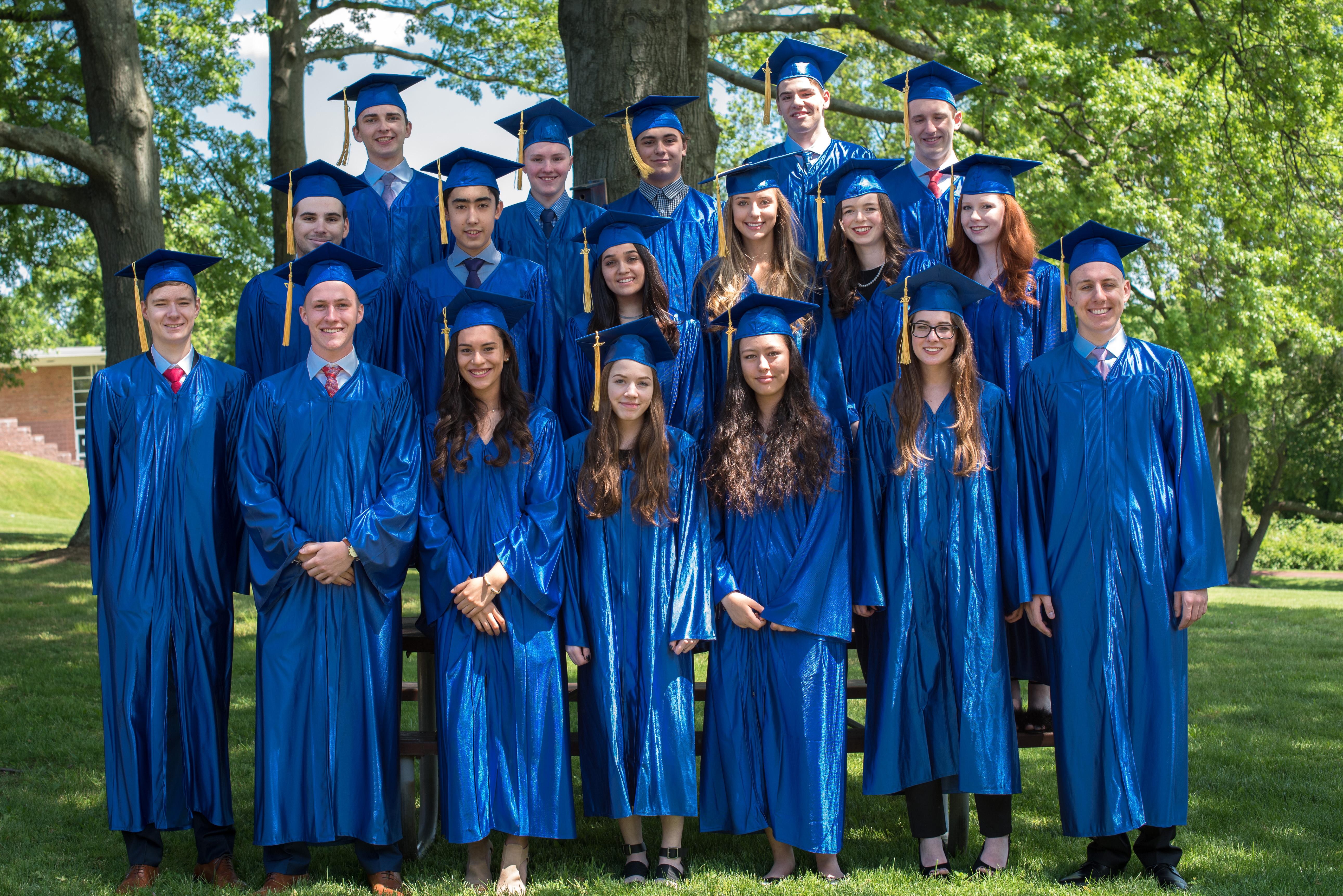 German International School of New York students participate in 2017 graduation ceremony. (Courtesy of German International School of New York)