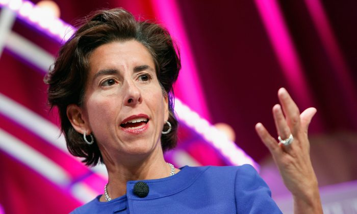 Governor of Rhode Island Gina Raimondo speaks onstage t the Mandarin Oriental Hotel on October 13, 2015 in Washington, DC.  (Photo by Paul Morigi/Getty Images for Fortune/Time Inc)
