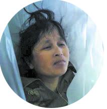 Xu Chensheng, after she died in police custody, in Chenzhou City, Hunan Province, China.