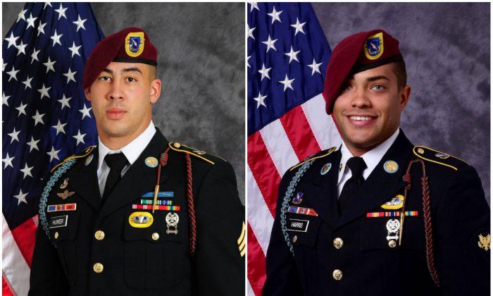 Sgt. Jonathon Hunter (L) and Spc. Christopher Harris. (U.S. Army)
