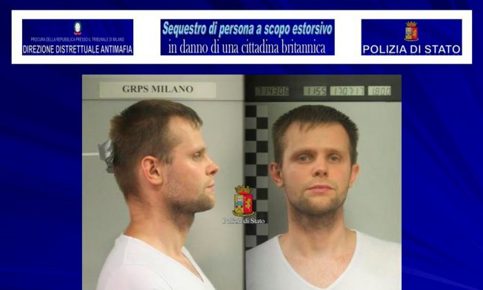 Lukasz Pawel Herba, the suspected kidnapper of British model Chloe Ayling on Aug. 5, 2017. (Polizia Di Stato/Handout via REUTERS)