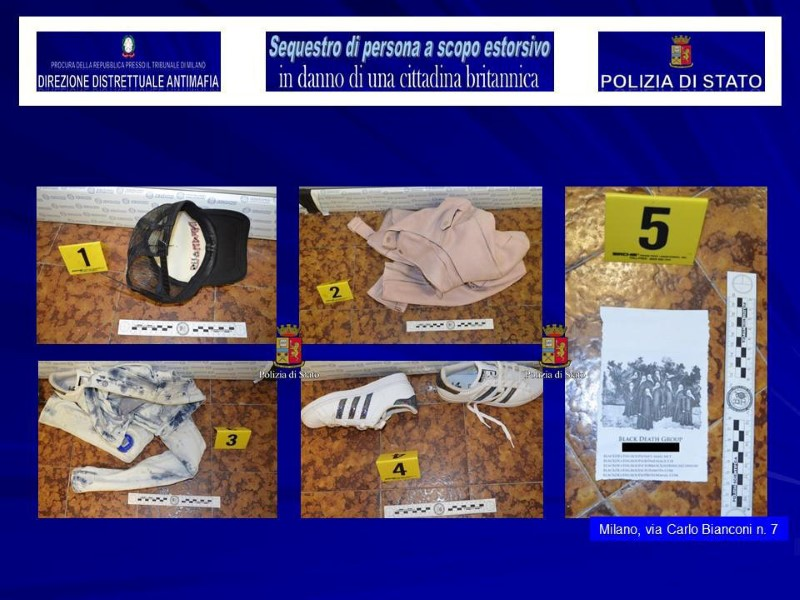Items found at a fake studio where a British model was kidnapped are seen in this August 5, 2017 handout picture provided by the Italian Police in Milan, Italy. (Polizia Di Stato/Handout via REUTERS)