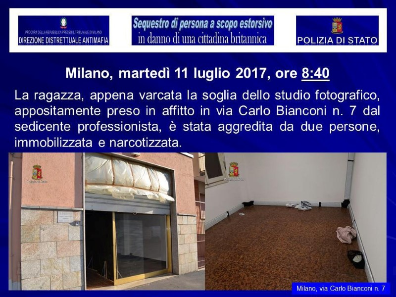 A fake studio where a British model was kidnapped is seen in this August 5, 2017 handout picture provided by the Italian Police in Milan, Italy. (Polizia Di Stato/Handout via REUTERS)