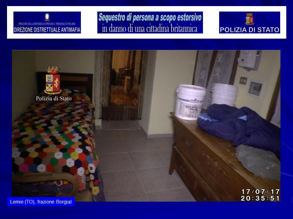 The interior of a house in a small village near Turin where police say a kidnapped British model was held, is seen in this August 5, 2017 handout picture provided by the Italian Police in Milan. (Polizia Di Stato/Handout via REUTERS)