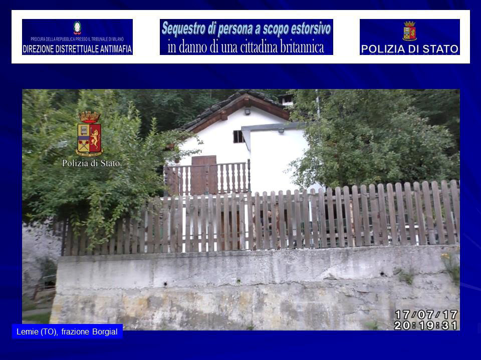The exterior of a house in a small village near Turin where police say a kidnapped British model was held, is seen in this August 5, 2017 handout picture provided by the Italian Police in Milan. (Polizia Di Stato/Handout via REUTERS)