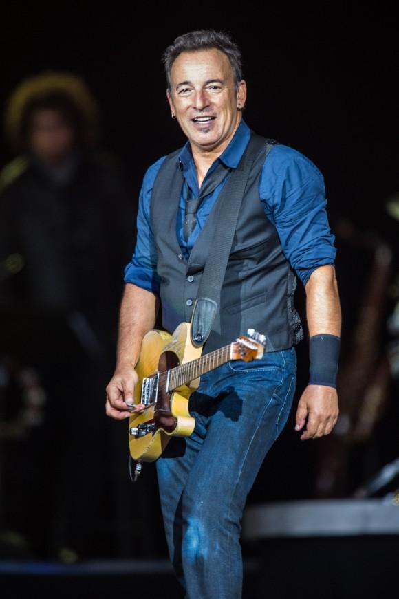 "Bruce Springsteen performing at Denmark's Roskilde Festival in 2012. ""The Boss"" released his debut album ""Greetings from Asbury Park, N.J."" in 1973. (Bill Ebbesen)"