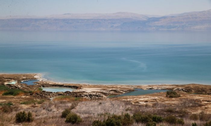A general view shows the Dead Sea in the West Bank August 2, 2017. (REUTERS/Ammar Awad)