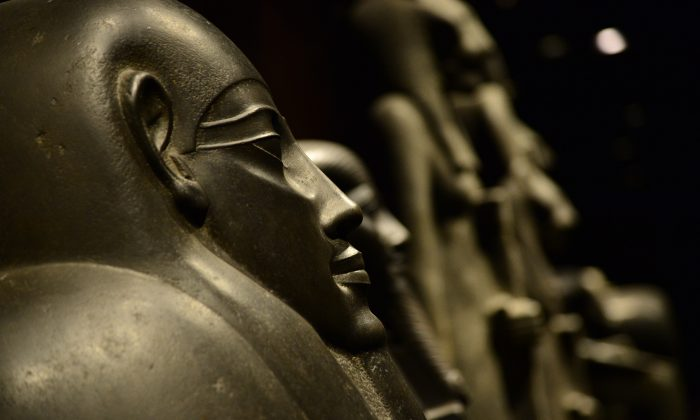 Sarcophagus are pictured in the Statuary room of the Egyptian Museum in Turin on November 7, 2013. (GIUSEPPE CACACE/AFP/Getty Images)