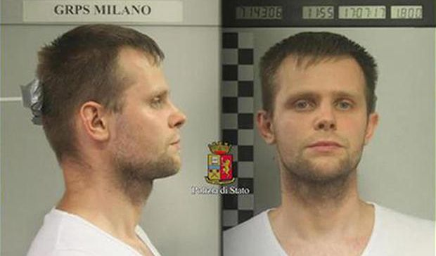 Lukasz Pawel Herba is a suspect in the alleged kidnapping of Chloe Ailing.(Italian Police)