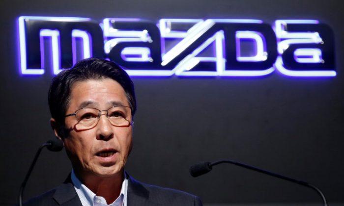 Mazda Motor President Masamichi Kogai speaks at a news conference in Tokyo, Japan August 8, 2017.   (REUTERS/Kim Kyung-Hoon)