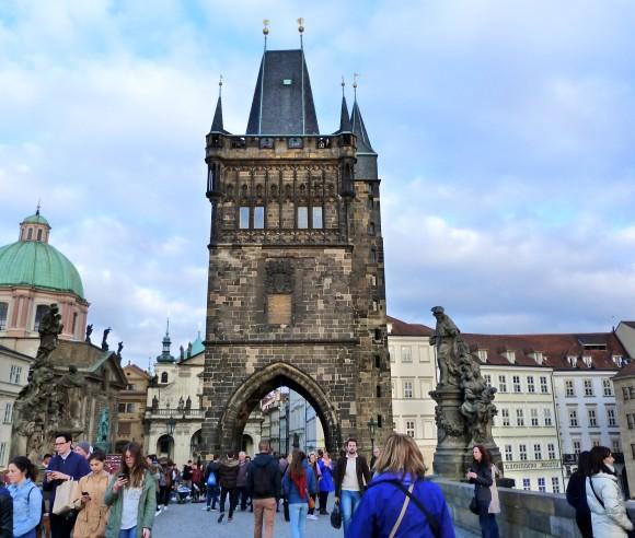 St. Charles Bridge Gate in Prague. (Barbara Angelakis)