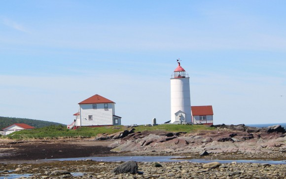 The lighthouse on Île Verte is now a B&B with 9 rooms. (Janna Graber)
