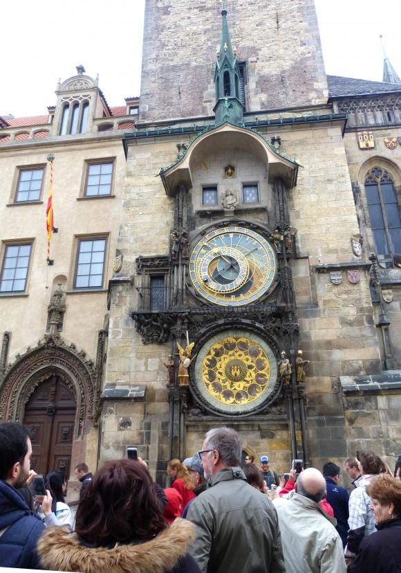 The astronomical clock at Prague City Hall. (Barbara Angelakis)