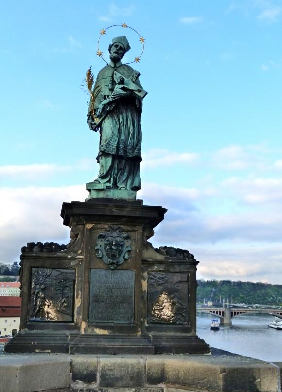 Statue of St. John of Nepomuk in Prague. (Barbara Angelakis)