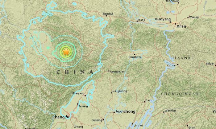M 6.5 earthquake- 35km WSW of Yongle, China on Aug. 8 2017. (USGS)