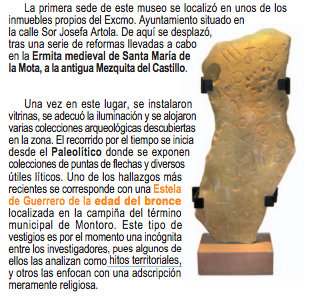 The Stela of Montoro that was found in a famer's field  in Spain in 2002 and contains early writing from what appear to be different languages. (Archeological Museum of Montoro)