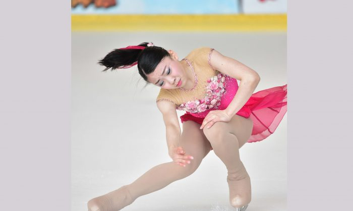 Japanese skater Rika Kihira, winner of the Junior Ladies Free Skating competing in the 2017 Asian Open Figure Skating Trophy, at Mega Ice on Saturday August 5. (Bill Cox/Epoch Times)