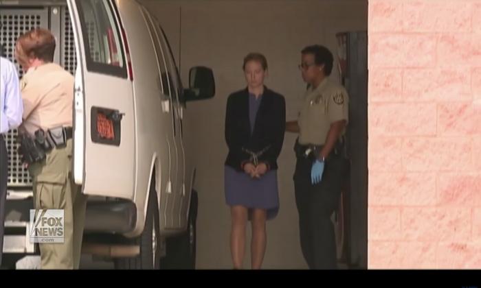 Molly Corbett leaving Davidson County Courthouse. (YouTube/Fox News)