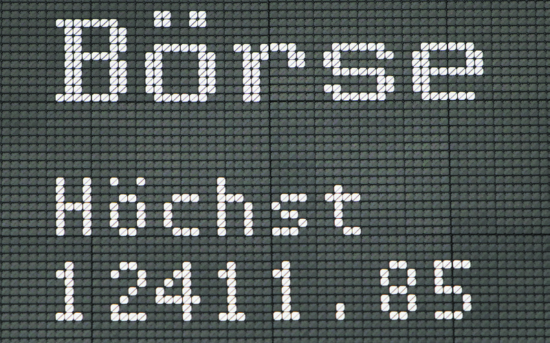 Germany's stock index, the DAX, on display at the Frankfurt Stock Exchange on April 24. The day marked an all-time high, but stocks kept rising until reaching 12,888 in June 2017 and have pulled back a little since then. Enrico Colombatto thinks that stocks in Europe and across the globe are overvalued, but believes that interest rate hikes are priced in and investor worries about the European Union and China are overblown. (DANIEL ROLAND/AFP/GETTY IMAGES)