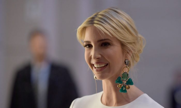 Ivanka Trump, daughter of U.S. President Donald Trump, arrives at a Gala Dinner at Deutsche Bank within the framework of the W20 summit  on April 25, 2017 in Berlin, Germany. (Clemens Bilan/Getty Images)