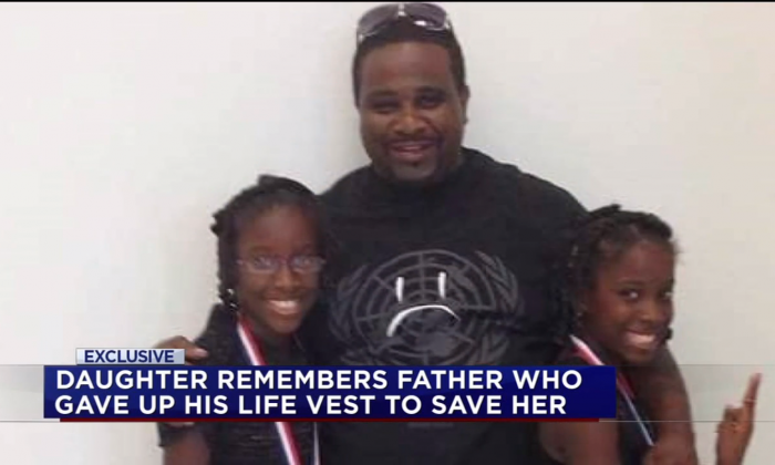 Michael Talley and his two daughters. (Screenshot via ABC 13)