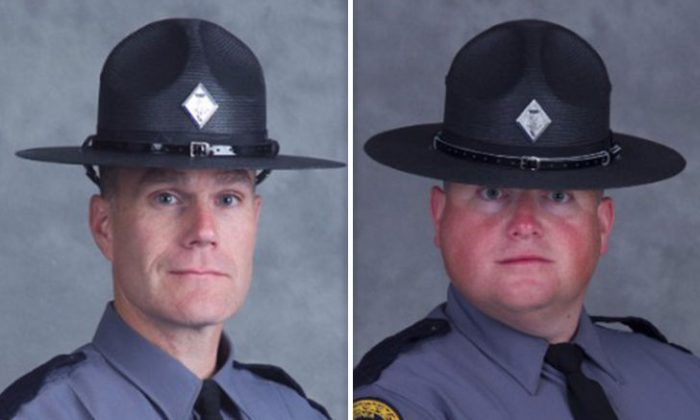 Lieutenant H. Jay Cullen, 48, from Midlothian, Va., and Trooper-Pilot Berke M.M. Bates from New Kent (Va. State Police)