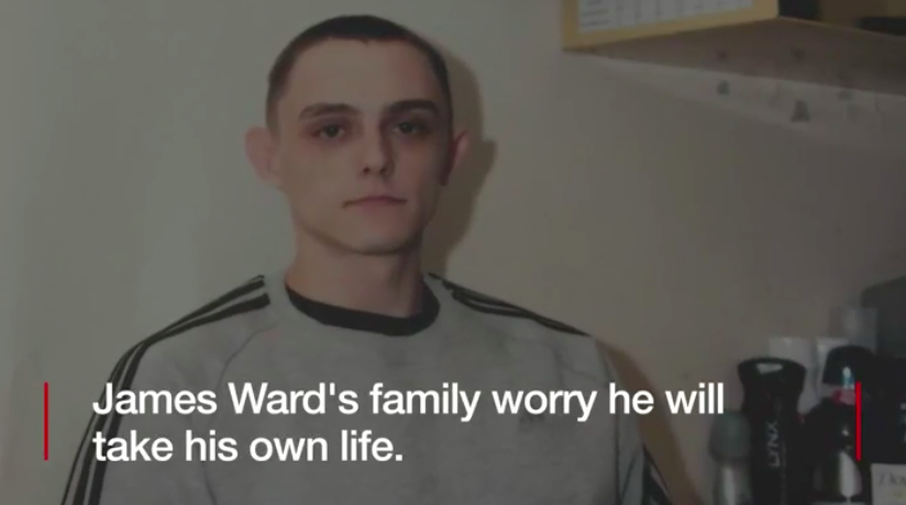 James Ward, who was given a 10-month jail sentence in the U.K. for arson in 2006. He is still in jail after 11 years. (Screenshot via BBC/Youtube)