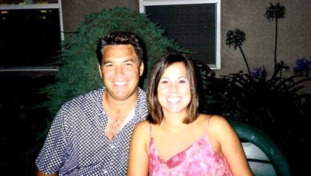 Peterson (left) was convicted in 2005 of murdering his wife Laci (right) when she was 8-months-pregnant with their son Conner (Modesto Police Department)