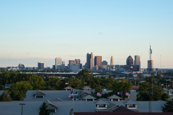 The skyline of downtown Columbus, Ohio, on Aug. 4, 2017. (Benjamin Chasteen/The Epoch Times)