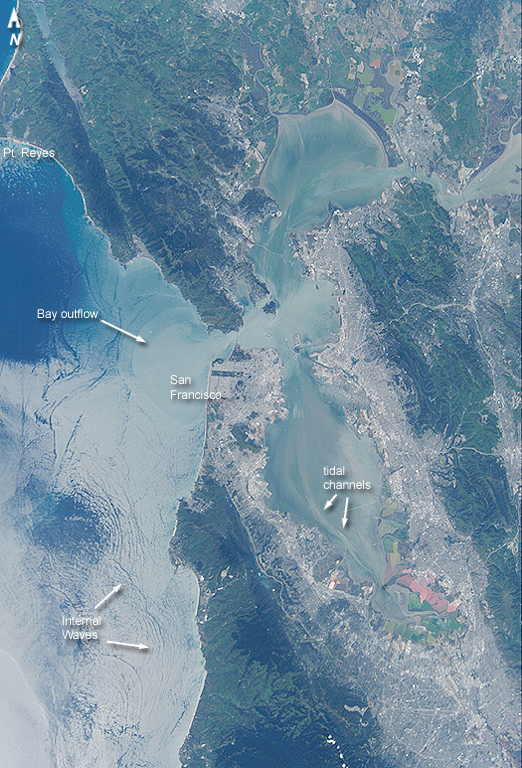 San Francisco Bay area as seen from the International Space Station, April 21, 2002. (NASA)