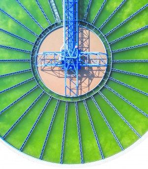 The top view of a sedimentation tank in this file photo. As clean water becomes more scarce, companies are seeing opportunity. (W.TAB/SHUTTERSTOCK)