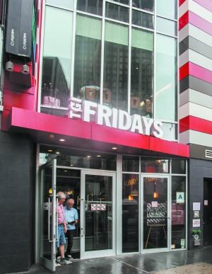 A TGI Fridays restaurant on 34th Street in New York on Aug. 15. (Epoch Times)