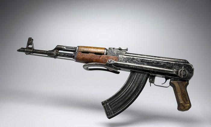 A Kalashnikov AK-47 gun.  (LIONEL BONAVENTURE/AFP/Getty Images)