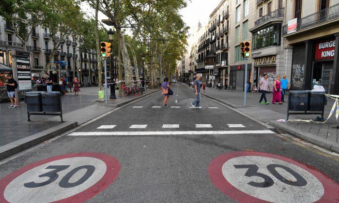 La Rambla boulevard, Barcelona. (JAVIER SORIANO/AFP/Getty Images)